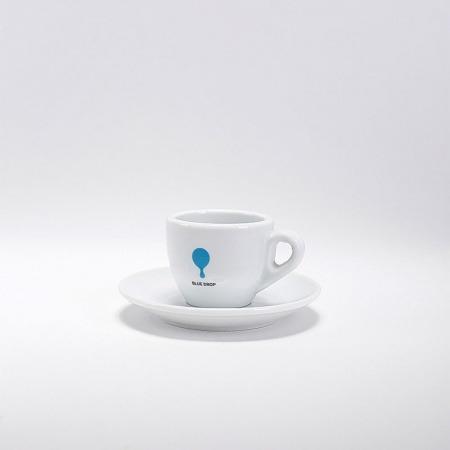 Filiżanka Blue Drop 70ml + Podstawka