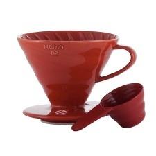 HARIO Dripper V60-02 czerwony, ceramiczny